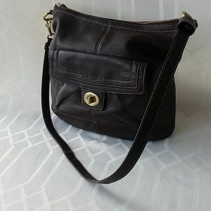 Coach Penelope Brown Leather Shoulder Bag Perfect!